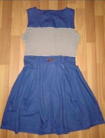 Плаття на ріст 152 - 158 - 164см, платье синее в полоску