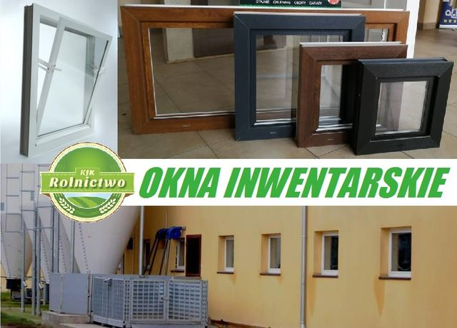 Okna do budynku inwentarskiego_Uchylne OKNO 140x50 cm z podwójną szybą
