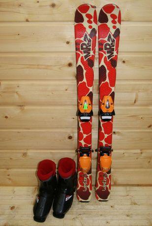 1327 ZESTAW narty Wedze 104 cm + buty Nordica 21 KIELCE