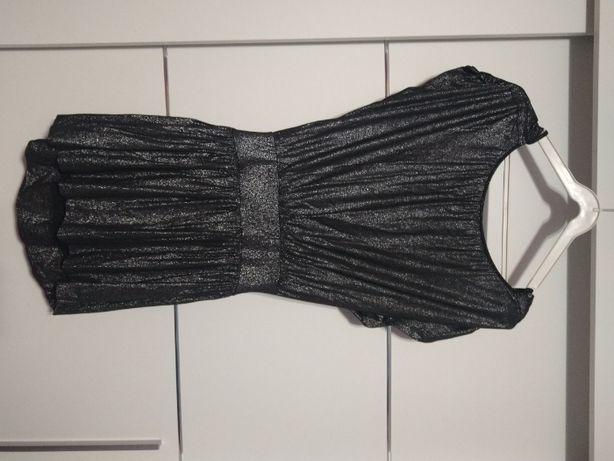 Sukienka czarna z brokatowym pyłem
