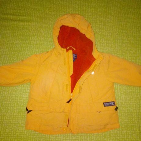 Куртка весенняя жёлтая унисекс