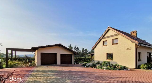 GNIEW dom z widokiem na las + garaż 2 stanowiskowy