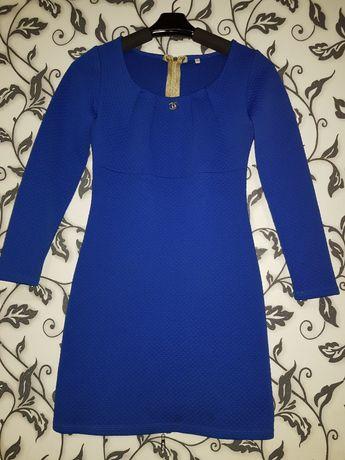 Платье синее женское
