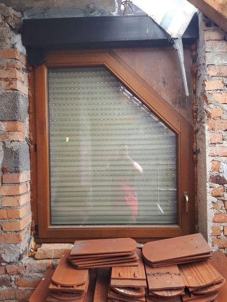 Okno drewniane machoniowe