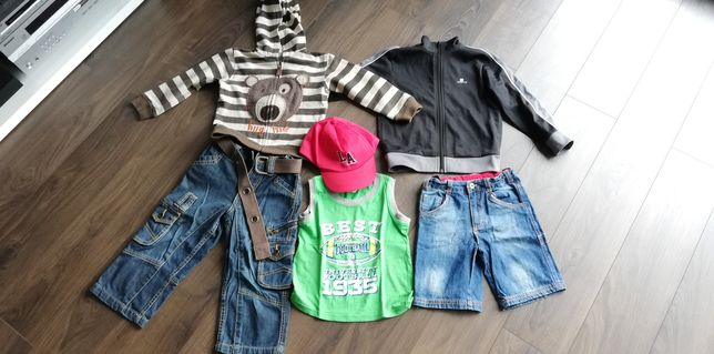 Paka ubrań dla chłopaka + czapka z daszkiem