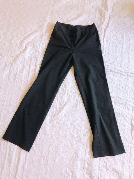 Серые широкие брюки офисные United Colors of Benetton