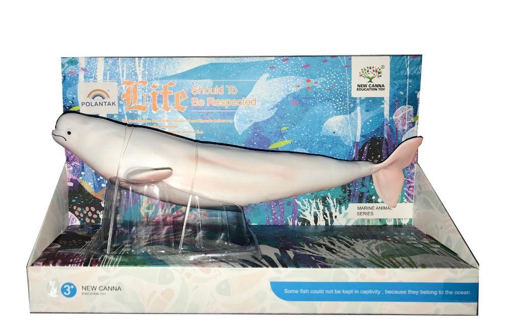 Gumowy Wieloryb Biały Miękki w dotyku jak żywy !