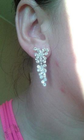 Biżuteria ślubna komplet - kolczyki i bransoletka