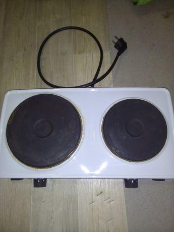 Kuchenka elektryczna, turystyczna dwu płytowa