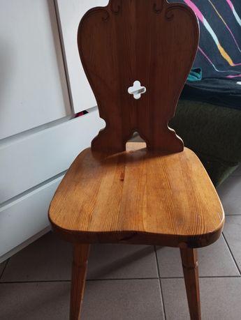 Krzesła drewniane 3 szt