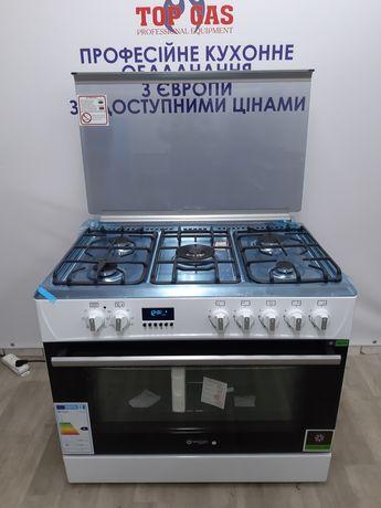 Нова Професійна Газова Плита Wiggo з електричною духовкою.Конвекційна