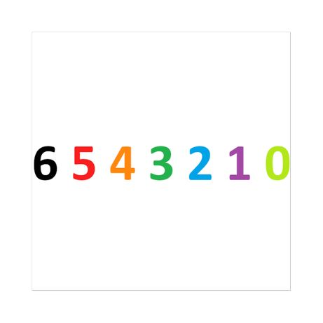 Złoty Numer (72) 6_5_4_3_2_1_0 malejący do zera
