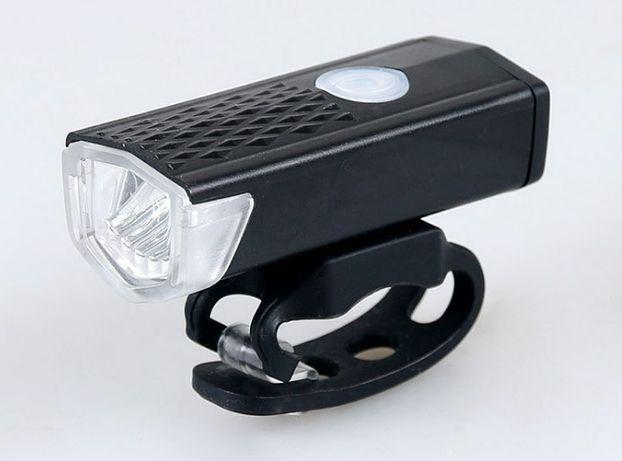 Мини вело фара RAYPAL 2255 на аккумуляторе USB зарядка 300 люмен