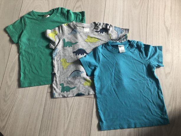 Zestaw komplet bluzki tshirty 74 H&M