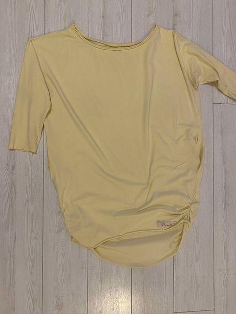 Tunika damska Manilla żółta cytrynowa jasna oversize 42 44