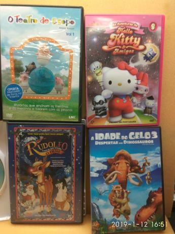 Conjunto 6 DVD infantis