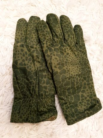 Rękawice Polowe Męskie Zimowe Ocieplane Moro