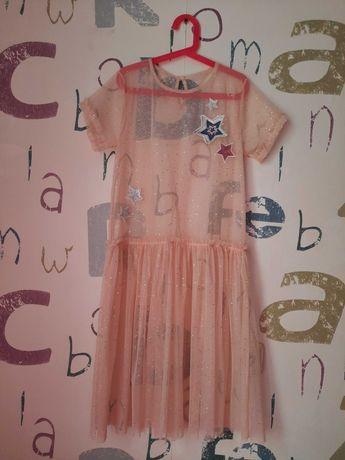 новое Пляжное Платье H&M  девочка 10-12 лет (152см) фатин