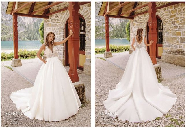"""Свадебное платье Armonia """"Agel"""" мікадо"""