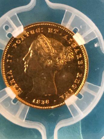"""Vendo moeda certificada de 5.000 Reis de 1838 """"D.ª maria II"""""""