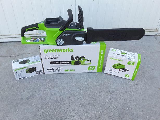 Greenworks Motosserra a Bateria - Campanha