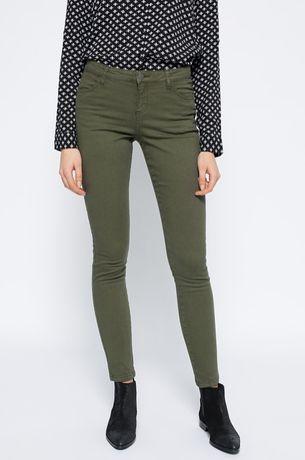 Nowe spodnie rurki MEDECINE khaki SLIM (36)