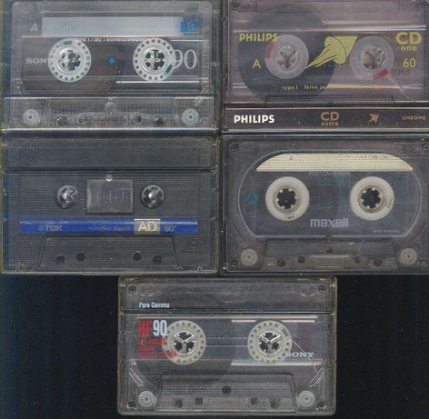 Zstaw kaset magnetofonowych (kpl. 5 sztuk)