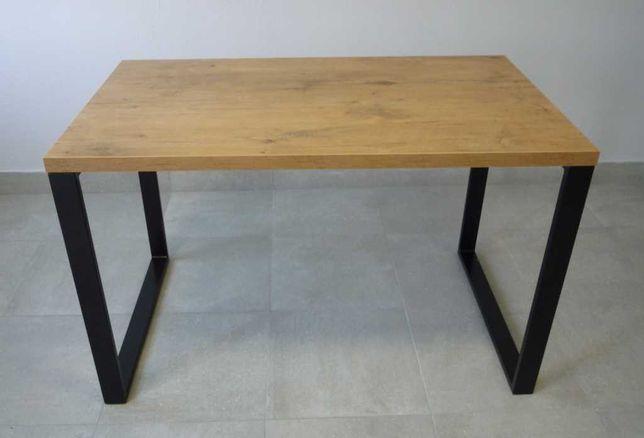 nowoczesny stół LOFT 120/70cm blat dąb lancelot artisan sonoma craft