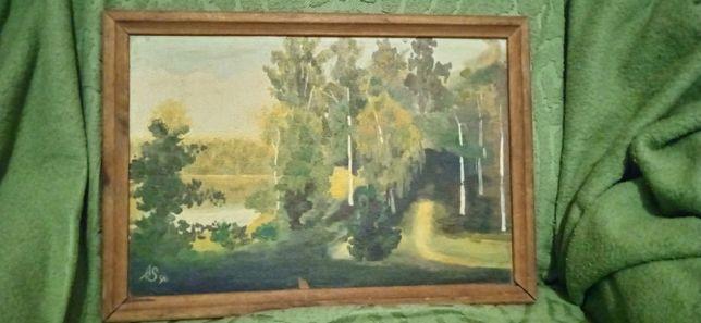 Продам старые картины маслом на холсте