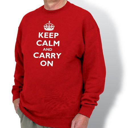 Keep Calm & Carry On Sweatshirt