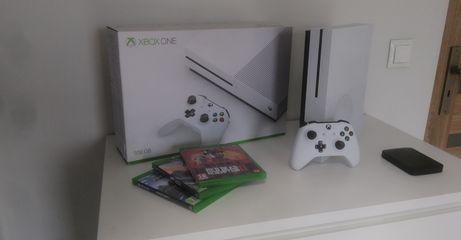Xbox one s 1tb + 3 gry STAN IDELANY