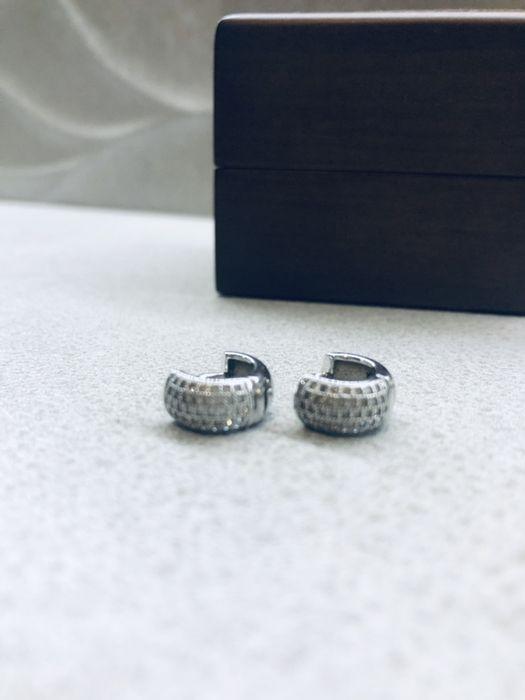Srebrne kolczyki z cyrkoniami marki YES Tychy - image 1