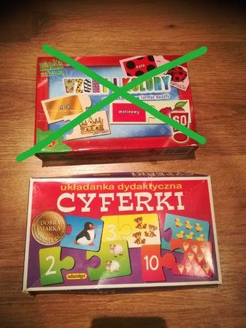 Układanka dydaktyczna Cyferki gra edukacyjna puzzle