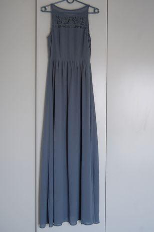 Sukienka maxi H&M 36/S Świadkowa