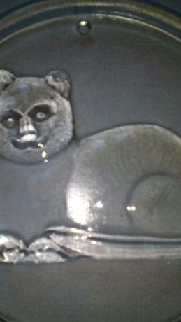 Скляна підвіска Котик