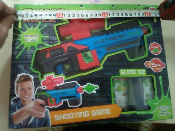 Пістолет стриляє слаймом.