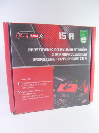 Prostownik samochodowy GT MAX 15 A