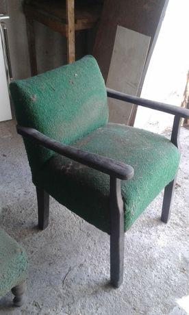 Krzeslo fotel antyk drewniany