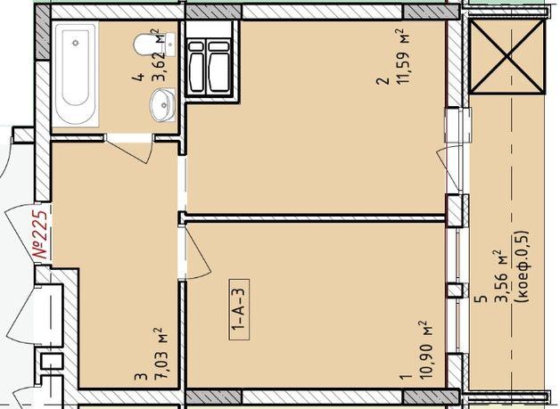 1-но комнатная квартира ЖК «Paradise Avenue»