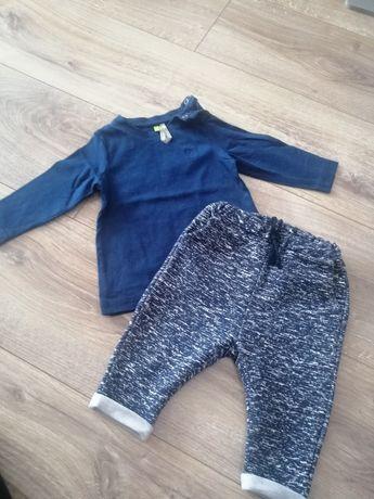 Komplet chłopięcy bluzka spodnie 68