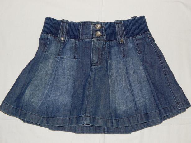 Стильная джинсовая юбка Zara Kids на девочку 9-10 лет. Рост 134-140 см