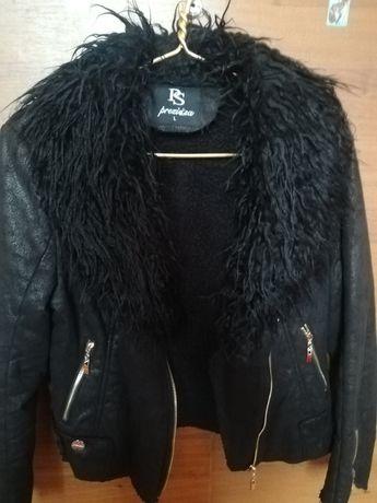 Куртка-дубленка в стиле косухе 46р.