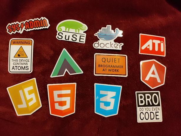 Naklejki wlepki hacker programowanie php c++ python grunt linux
