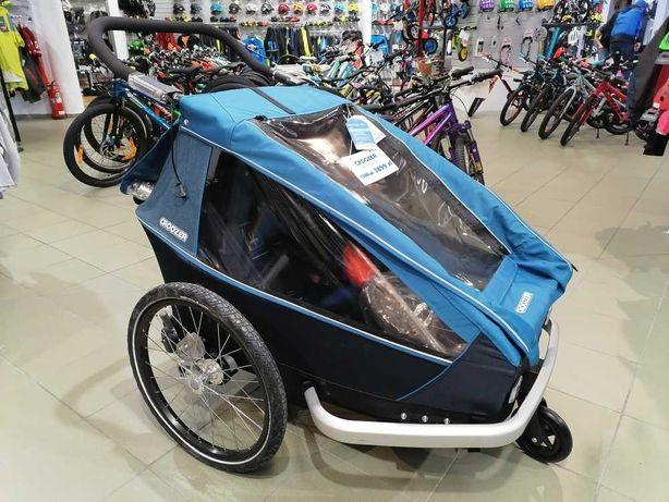 Croozer Kid Plus 2 przyczepka rowerowa dwuosobowa Nowa