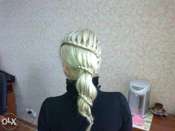 Плетение кос и создание локонов в Киеве.