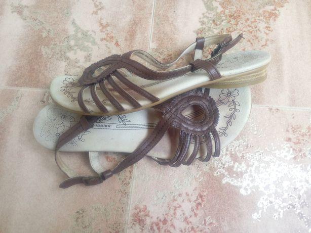 сандали босоножки 39размер кожа
