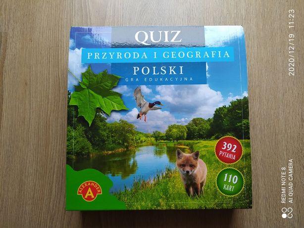 Gra planszowa edukacyjna Quiz Przyroda i Geografia Polski nowa