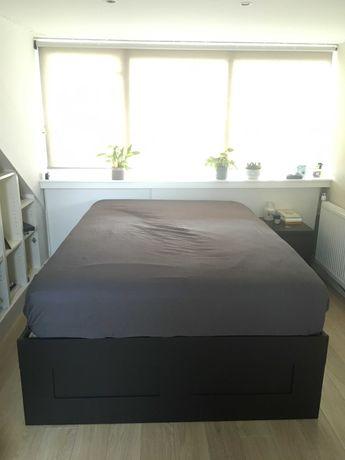 Cama de casal IKEA BRIMNES com colchão - excelente estado!