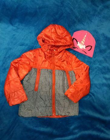 Курточка осенняя, демисезонная и пакет вещей,рост 104-110