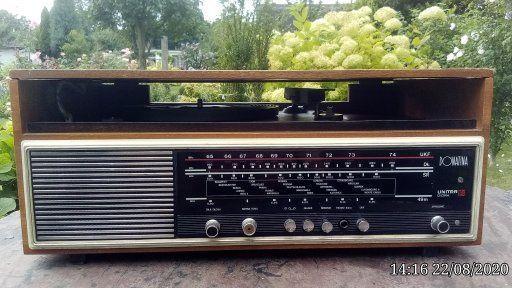 antyczne radio z gramofonem Donatina